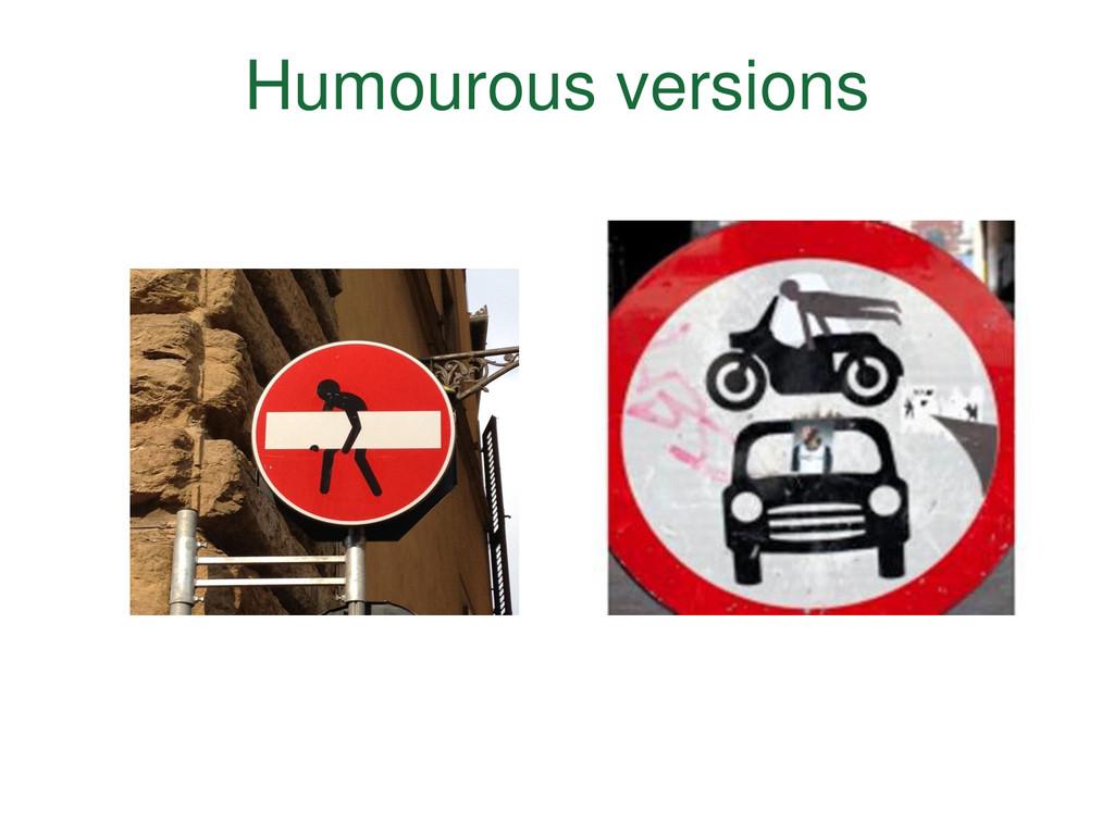 Humourous versions