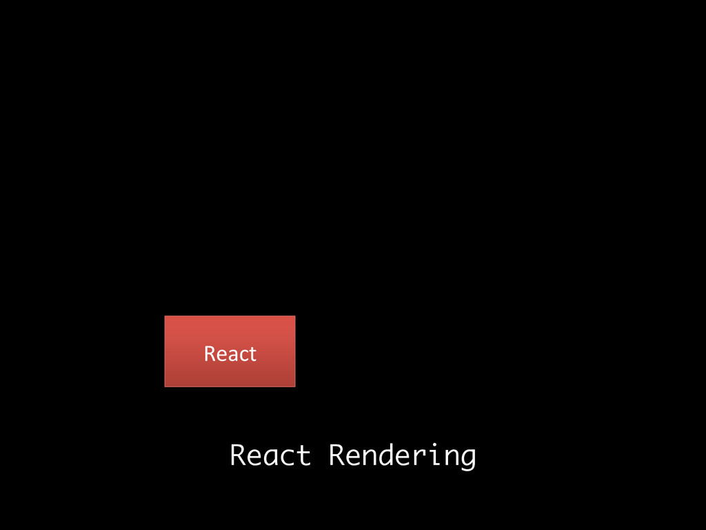 React  React Rendering