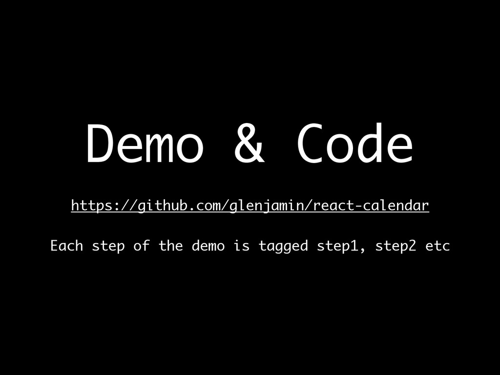 Demo & Code  https://github.com/glenjamin/rea...
