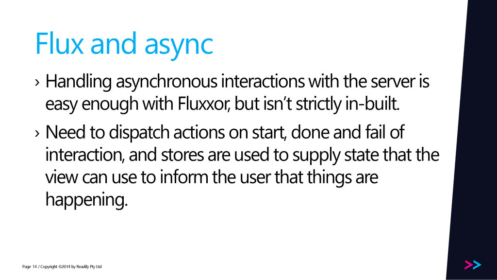 Page Flux and async › Handling asynchronous int...