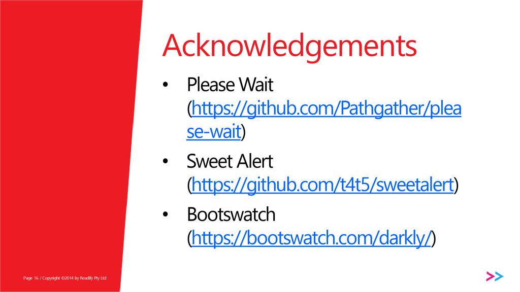Page Acknowledgements • Please Wait (https://gi...