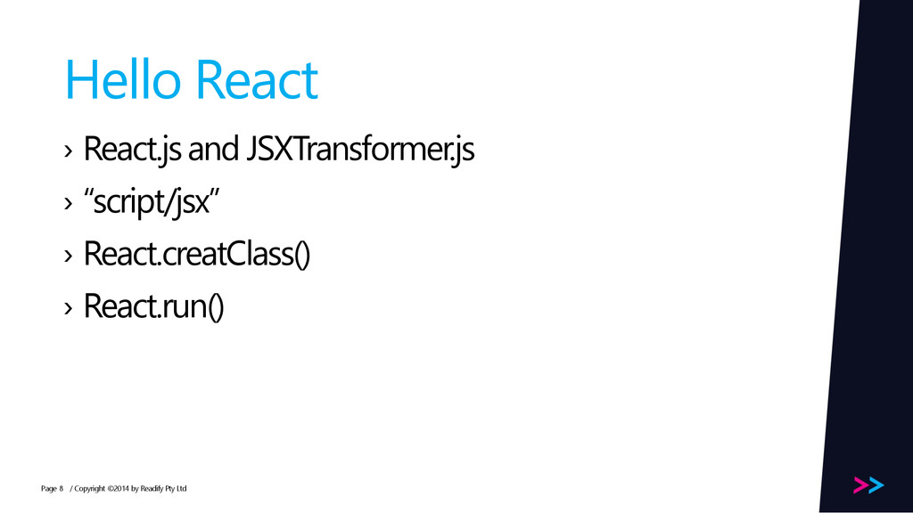 Page Hello React › React.js and JSXTransformer....