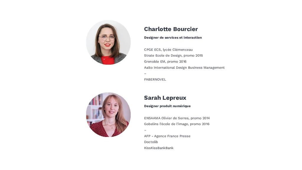 Sarah Lepreux Designer produit numérique ENSAAM...