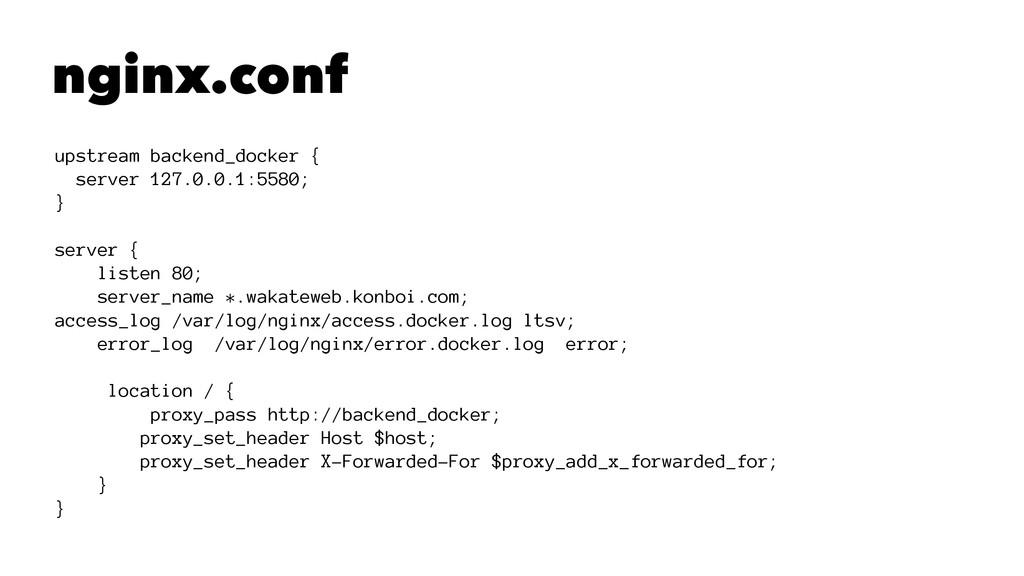 nginx.conf upstream backend_docker { server 127...