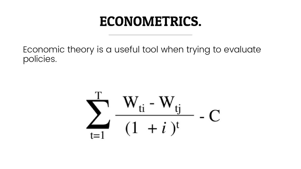 Economic theory is a useful tool when trying to...