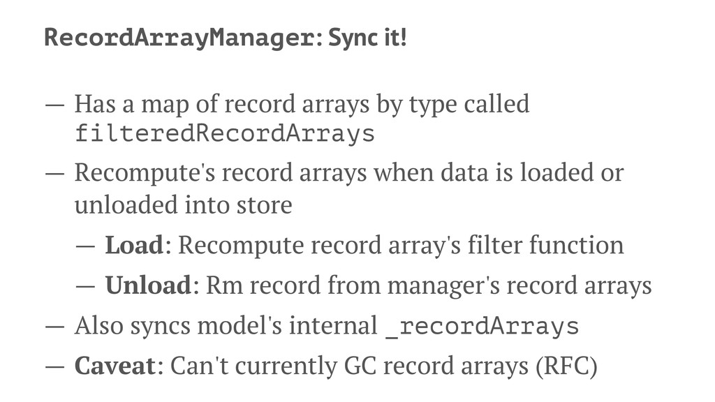 RecordArrayManager: Sync it! — Has a map of rec...