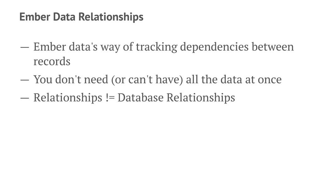 Ember Data Relationships — Ember data's way of ...