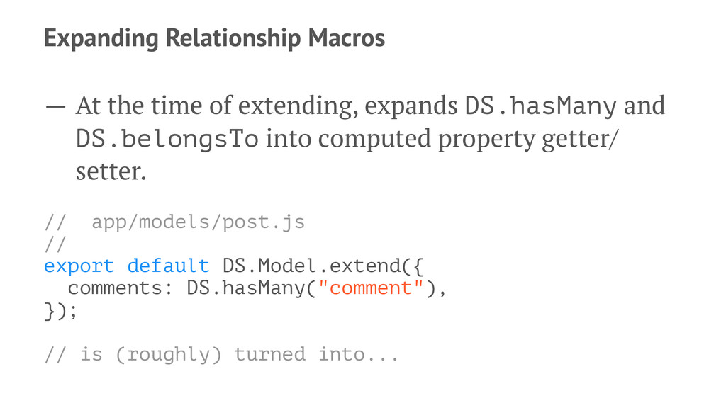 Expanding Relationship Macros — At the time of ...