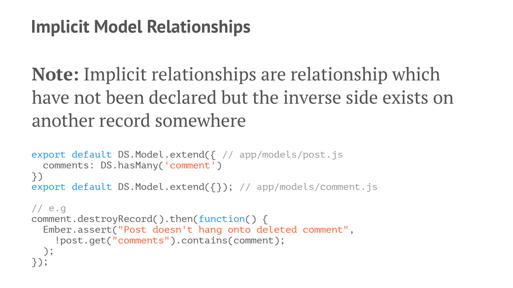 Implicit Model Relationships Note: Implicit rel...