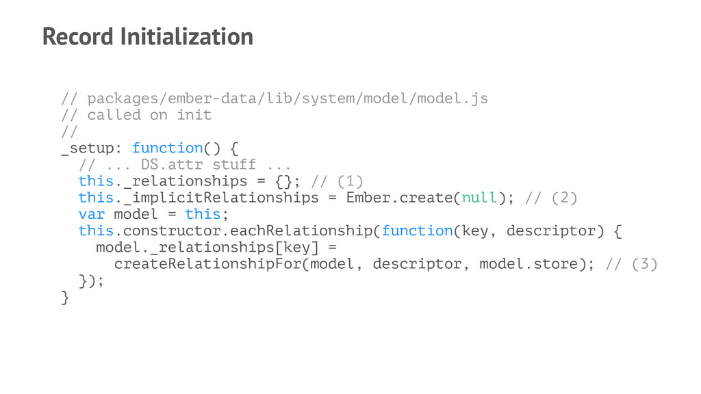 Record Initialization // packages/ember-data/li...
