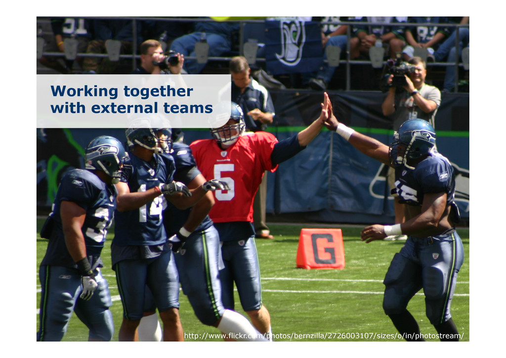 Working together with external teams http://www...