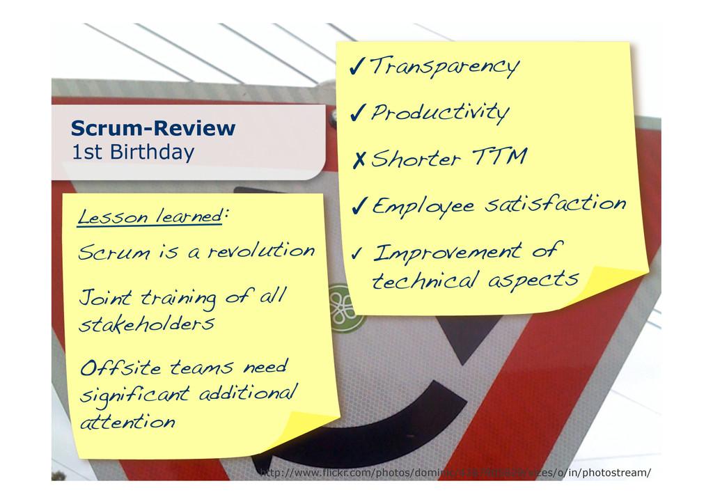 ✓ Scrum-Review 1st Birthday http://www.flickr.c...
