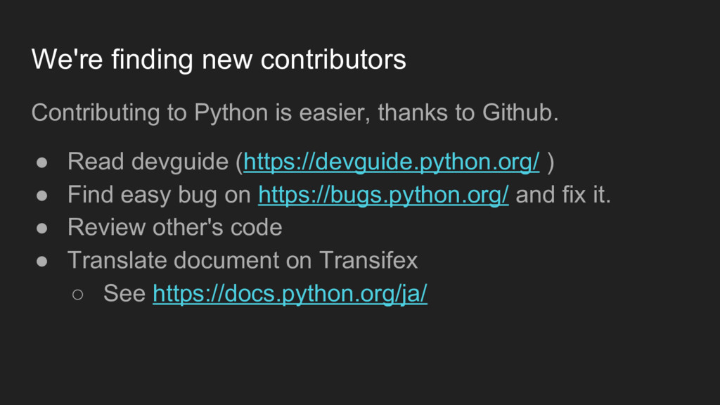 We're finding new contributors Contributing to ...