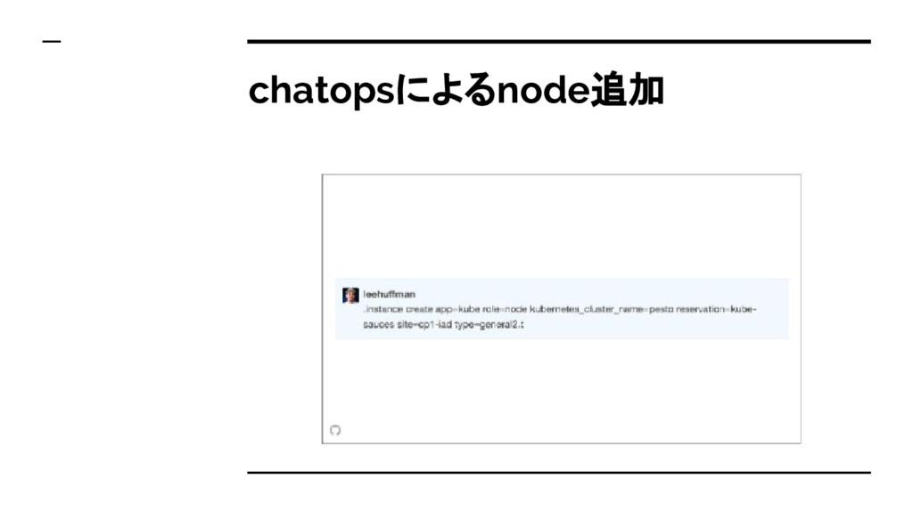 chatopsによるnode追加