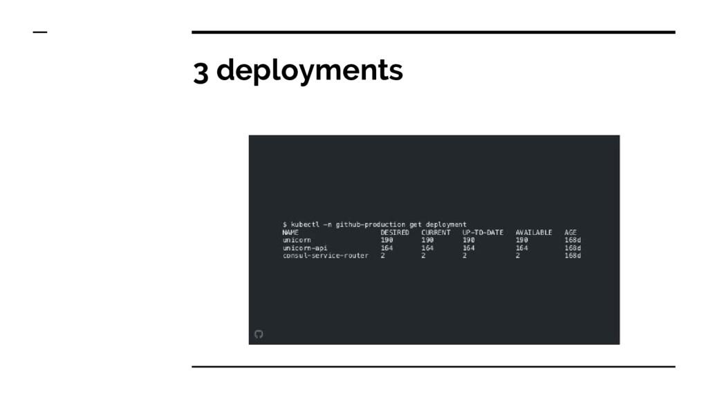 3 deployments