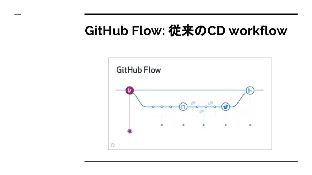 GitHub Flow: 従来のCD workflow