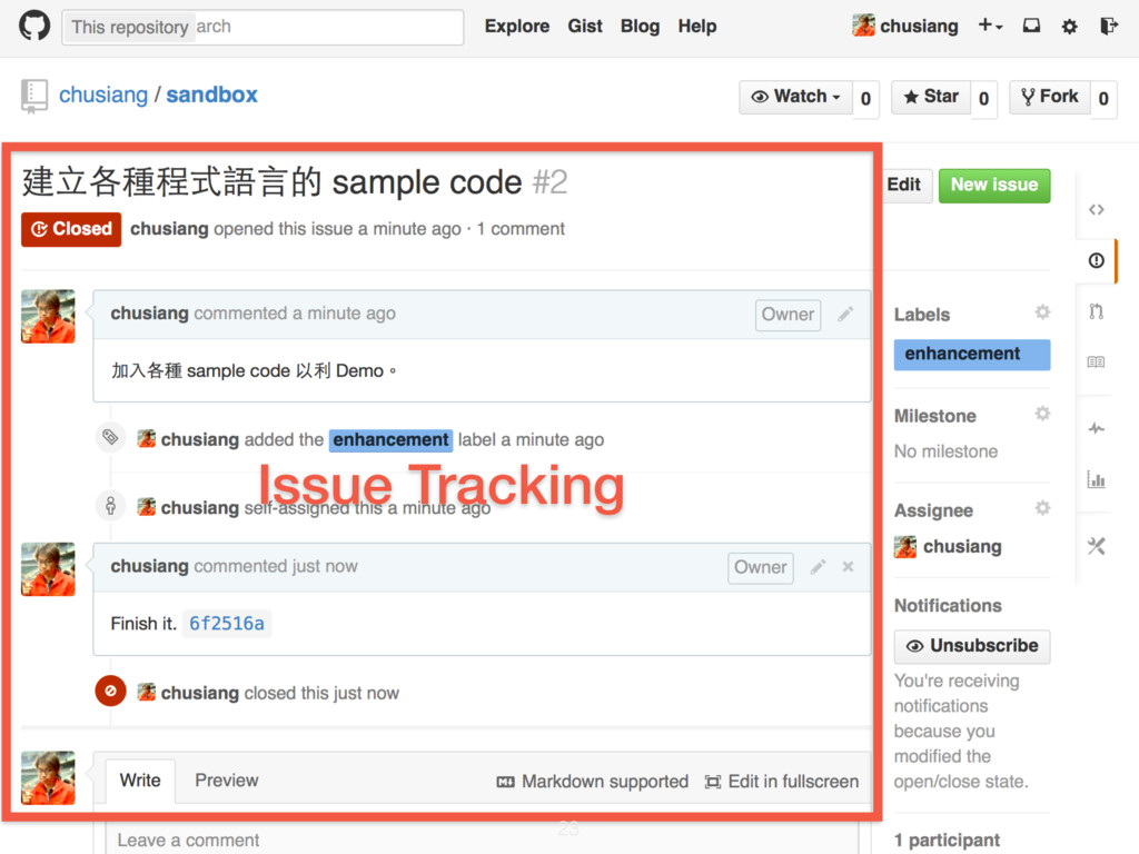 Issue Tracking 23