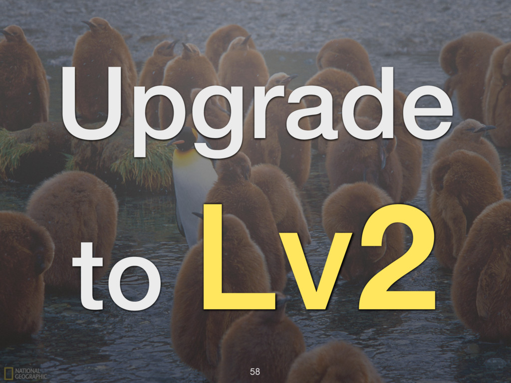 Upgrade to Lv2 58