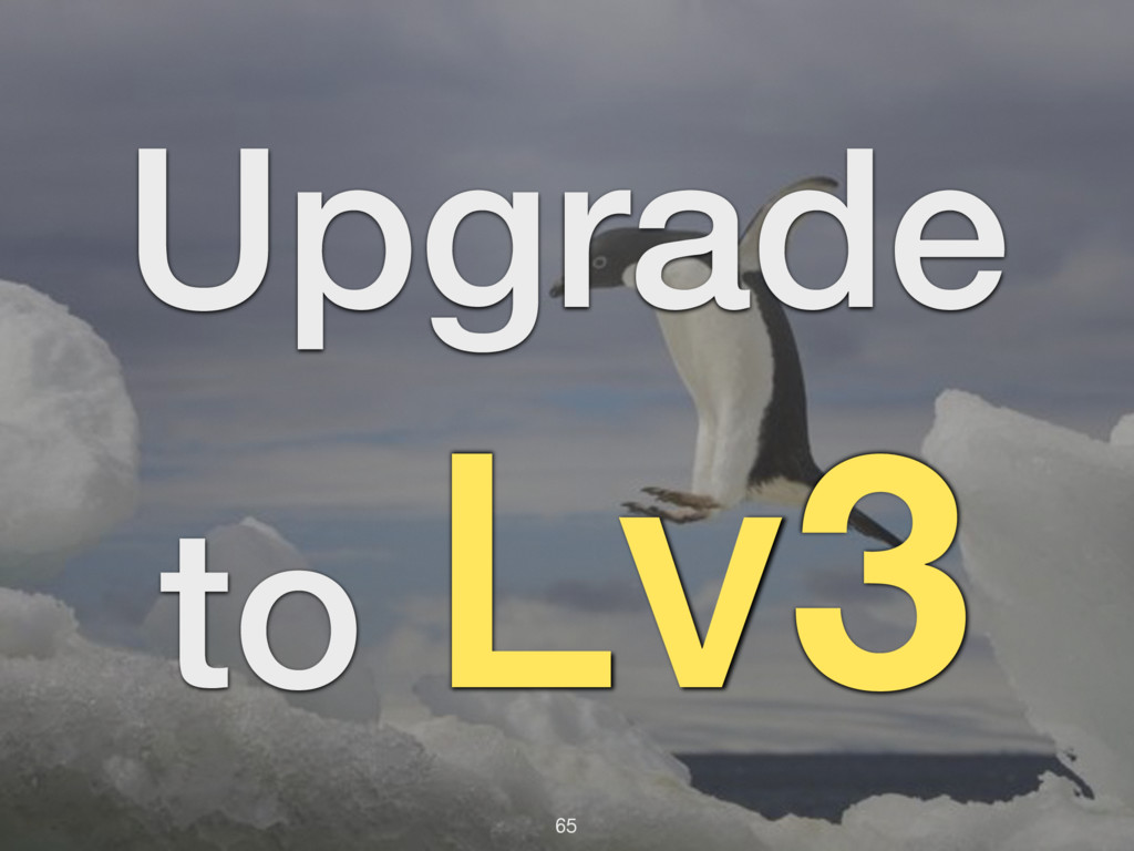 65 Upgrade to Lv3