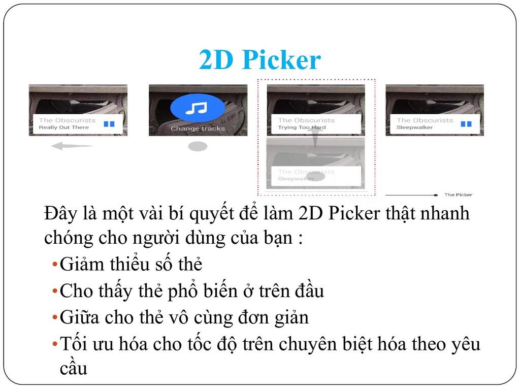 2D Picker Đây là một vài bí quyết để làm 2D Pic...
