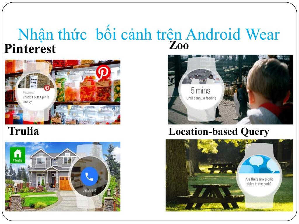 Nhận thức bối cảnh trên Android Wear Pinterest ...