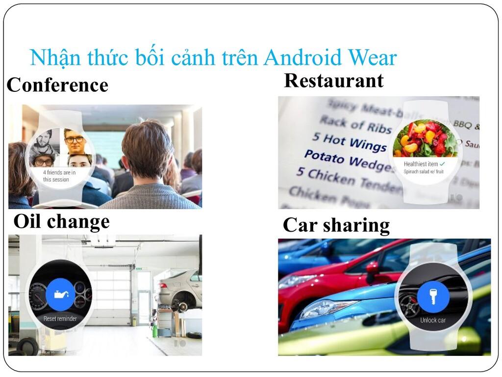Nhận thức bối cảnh trên Android Wear Conference...