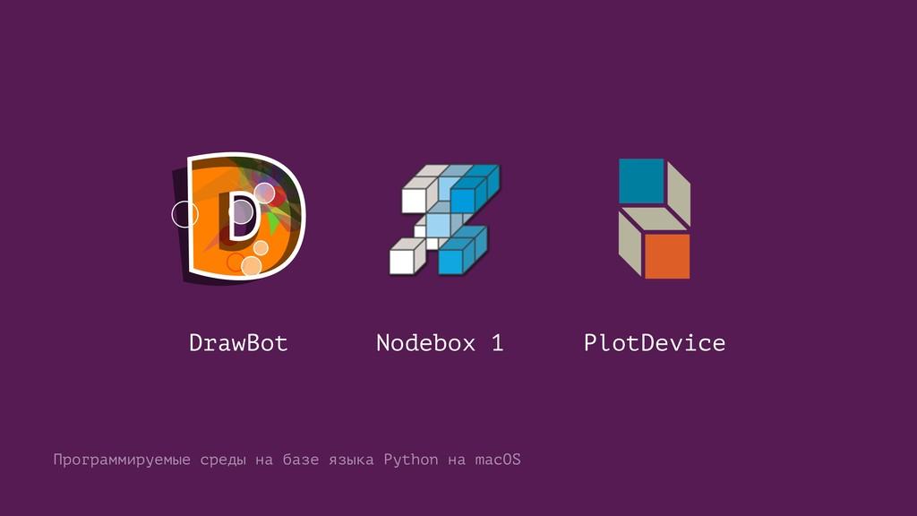 DrawBot Nodebox 1 PlotDevice Программируемые ср...
