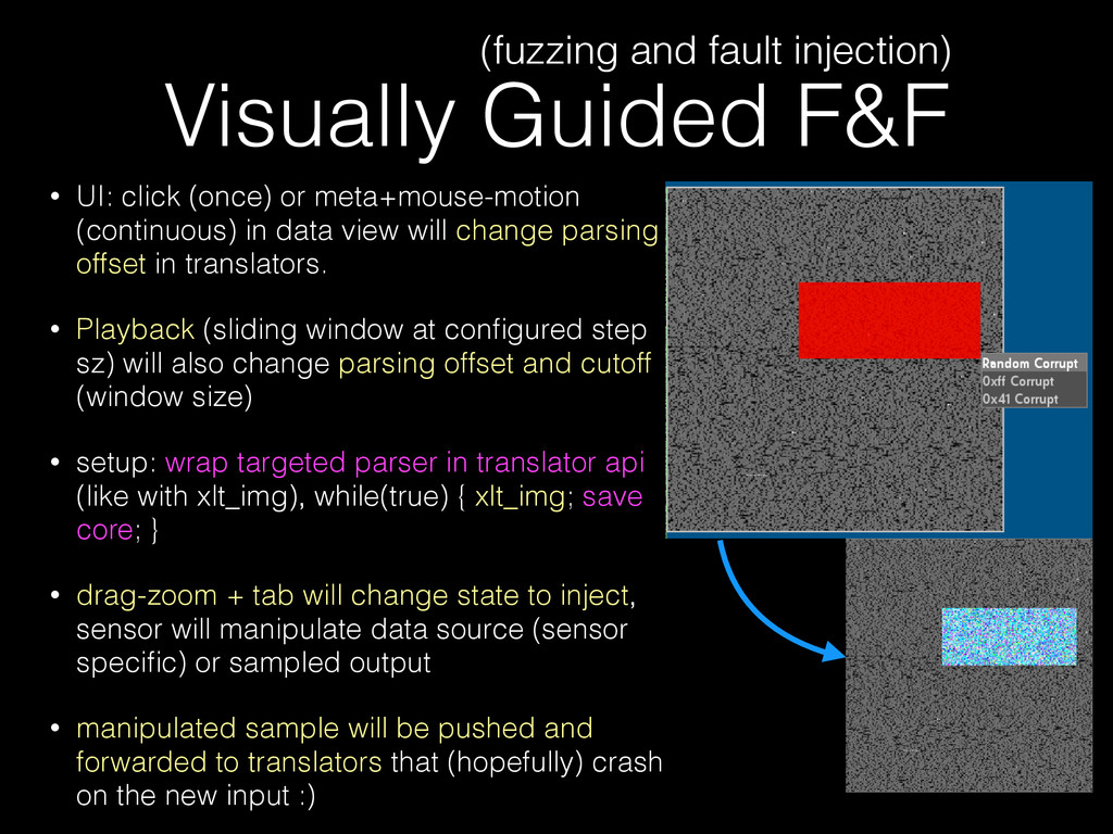 Visually Guided F&F • UI: click (once) or meta+...