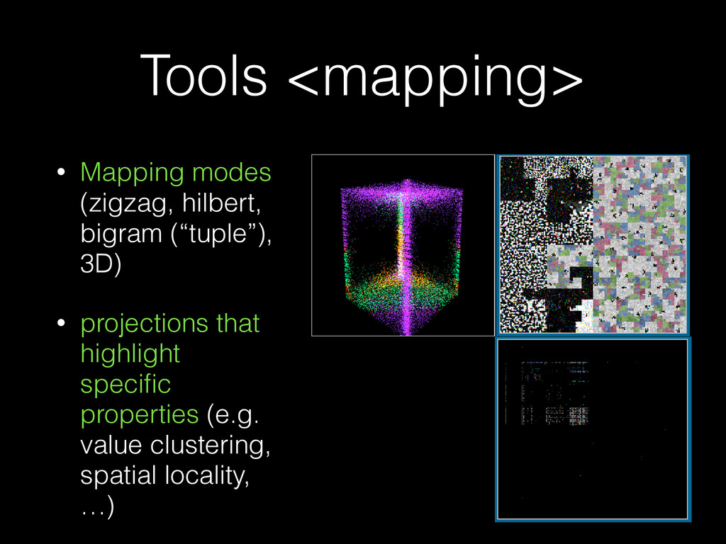 Tools <mapping> • Mapping modes (zigzag, hilber...