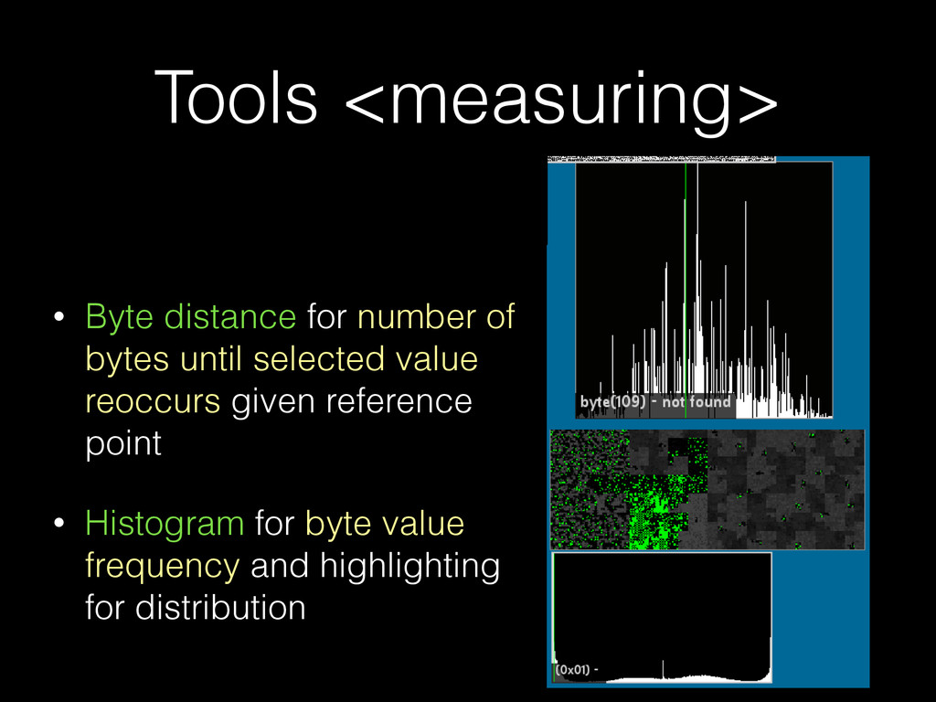 Tools <measuring> • Byte distance for number of...