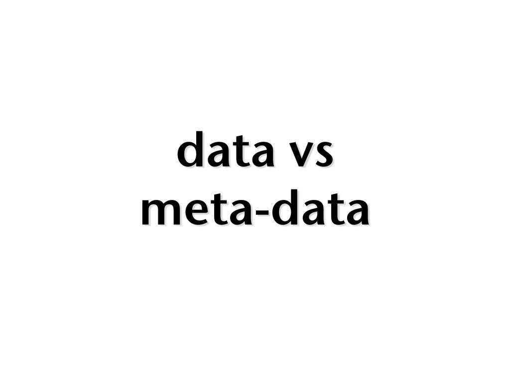 data vs meta-data