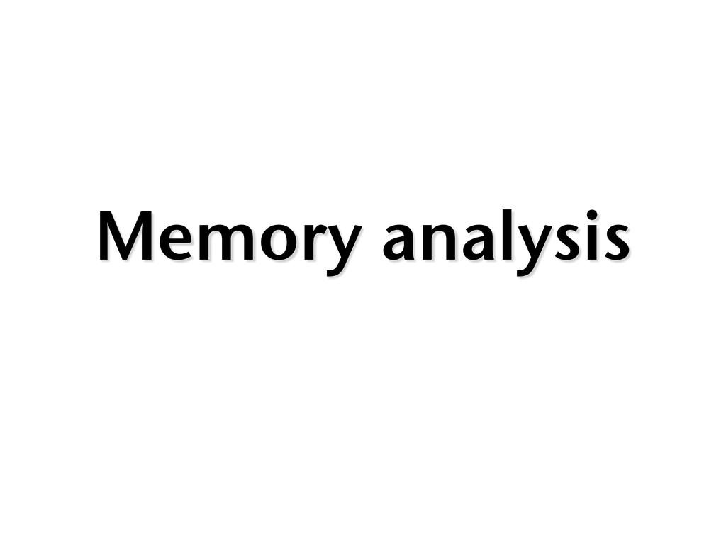 Memory analysis