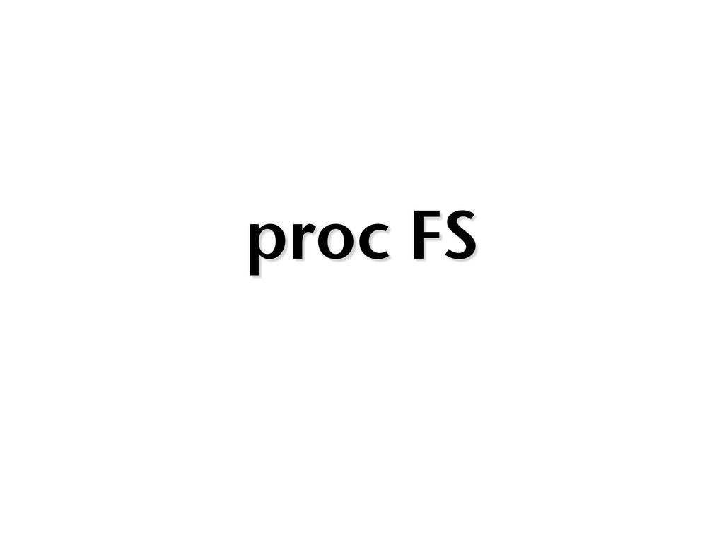 proc FS