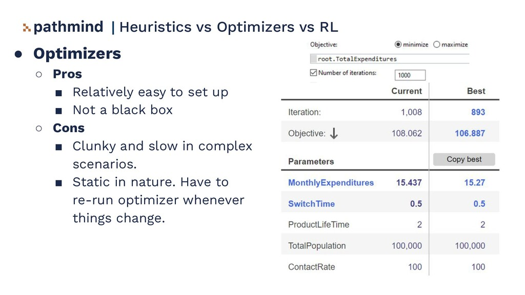 ● Optimizers ○ Pros ■ Relatively easy to set up...