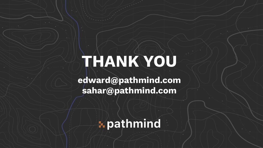 THANK YOU edward@pathmind.com sahar@pathmind.com