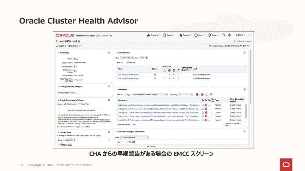 Oracle Cluster Health Advisor Copyright © 2021,...