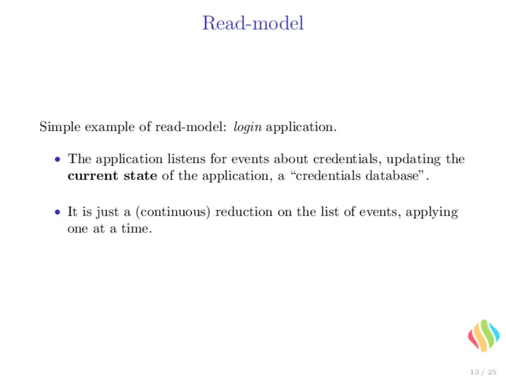 Read-model Simple example of read-model: login ...