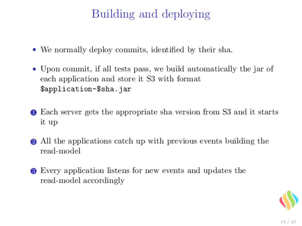 Building and deploying • We normally deploy com...