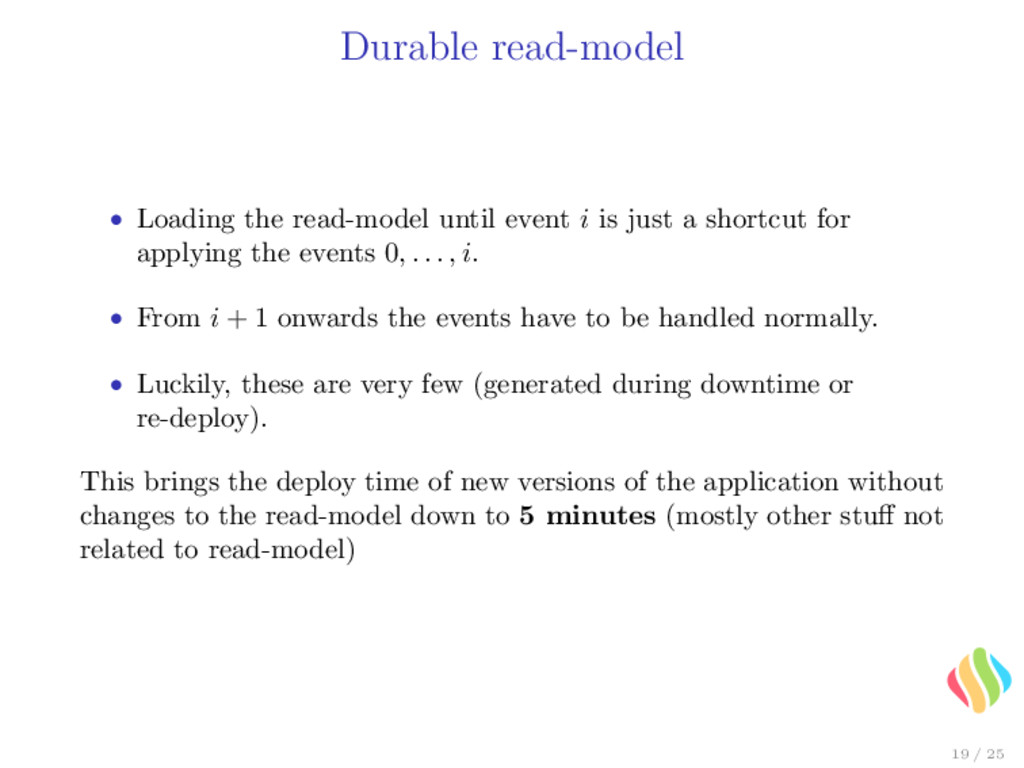 Durable read-model • Loading the read-model unt...