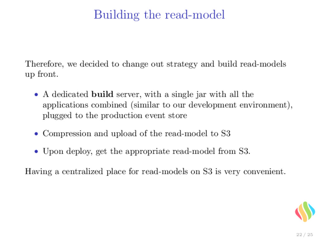 Building the read-model Therefore, we decided t...