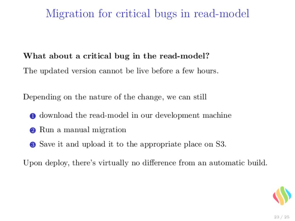 Migration for critical bugs in read-model What ...