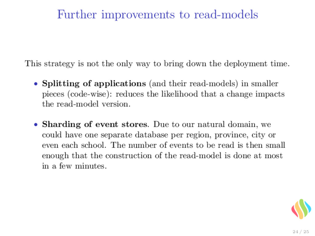 Further improvements to read-models This strate...