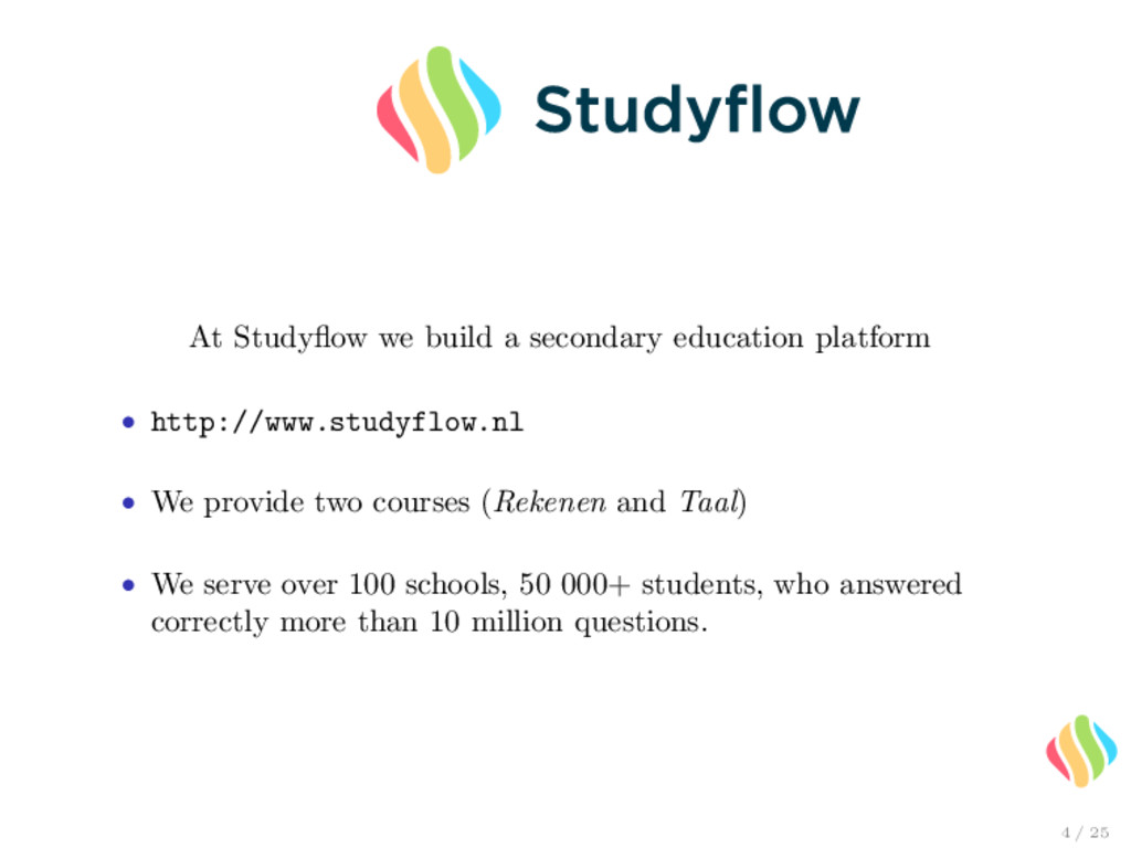 At Studyflow we build a secondary education plat...