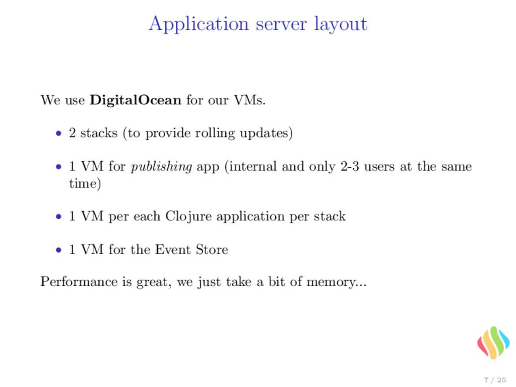 Application server layout We use DigitalOcean f...