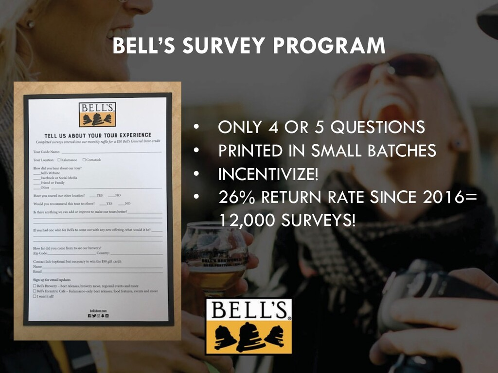 BELL'S SURVEY PROGRAM • ONLY 4 OR 5 QUESTIONS •...