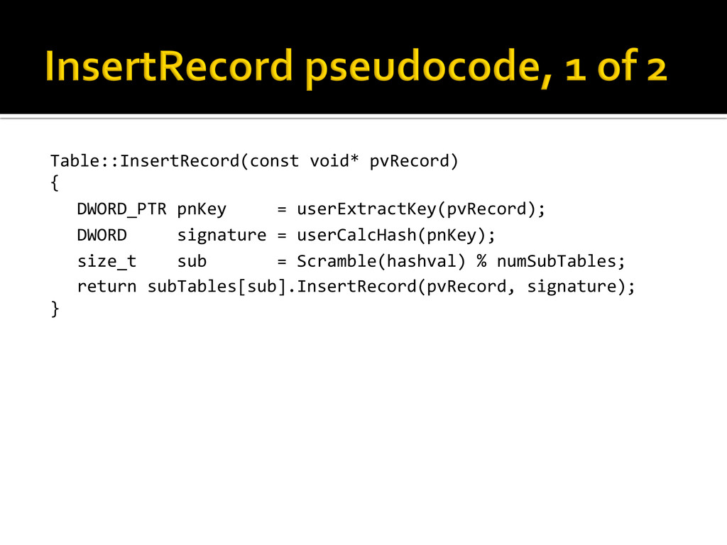 Table::InsertRecord(const void* pvRecord)...