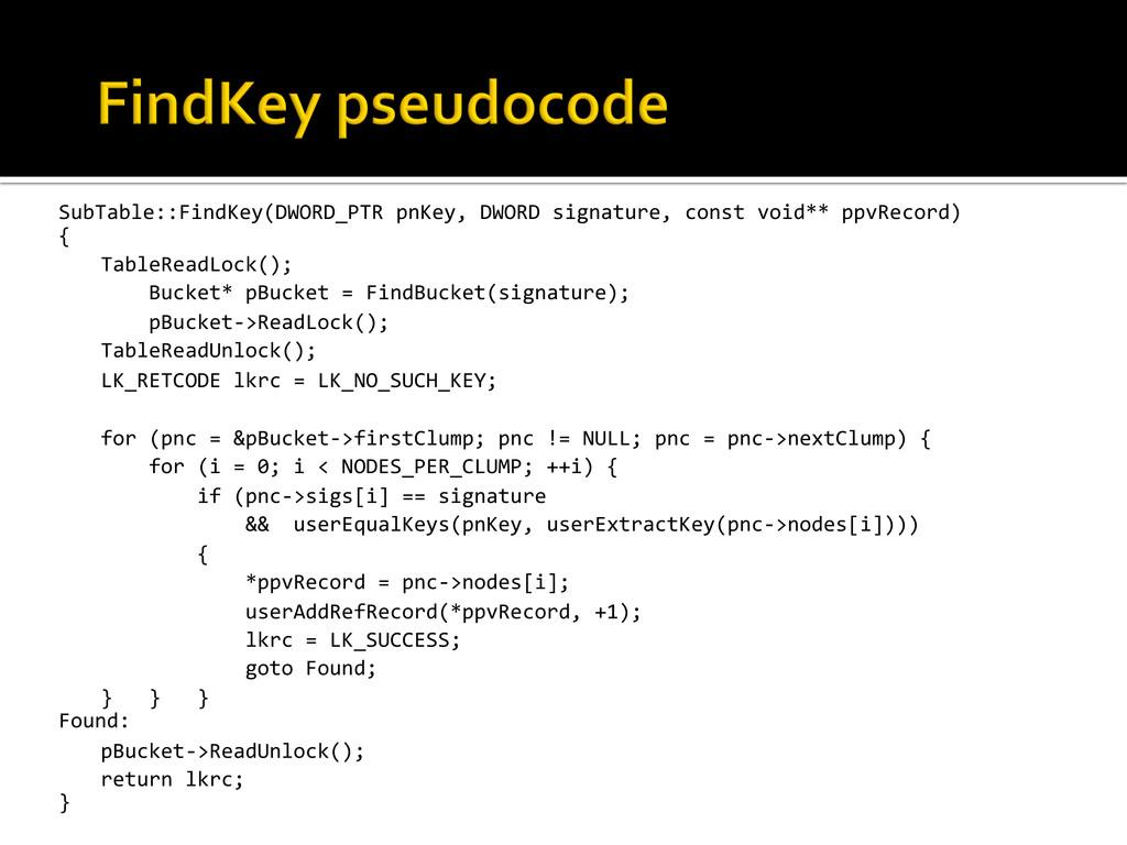 SubTable::FindKey(DWORD_PTR pnKey, DWORD...