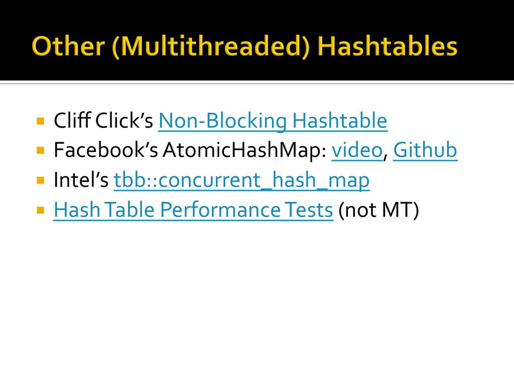 ¡ Cliff Click's Non-‐Blocking Hashta...