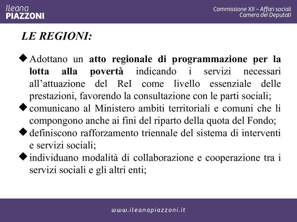 LE REGIONI: Adottano un atto regionale di prog...