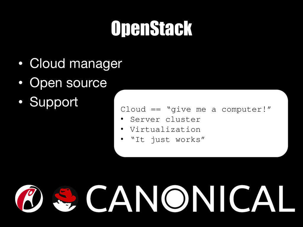 OpenStack • Cloud manager • Open source • ...